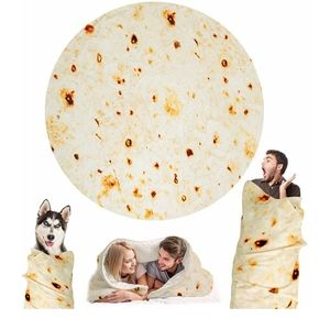Official Burrito Blanket Novelty Gift Gag Flour
